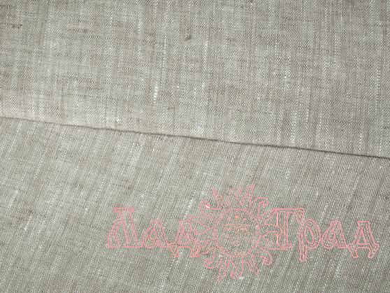 Лён серый небелёный (ш150/пл180) лен-100%
