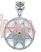 Звезда Перуна  РУ-П2.080   D=30мм (оберег, посеребрение)_1