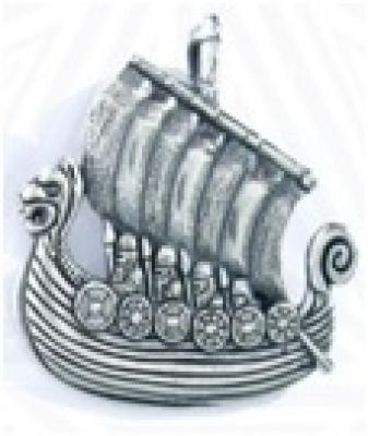 Ладья викингов РУ-П2.086 (оберег, посеребрение)