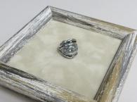 Кольцо Зерна/плодородие с крестом РУ-К1.056 (оберег, посеребрение)_0