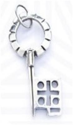 Ключ  РУ-П1.082 (оберег, посеребрение)