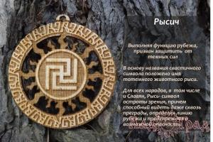 Рысич в солнечном круге (деревянный оберег)_1