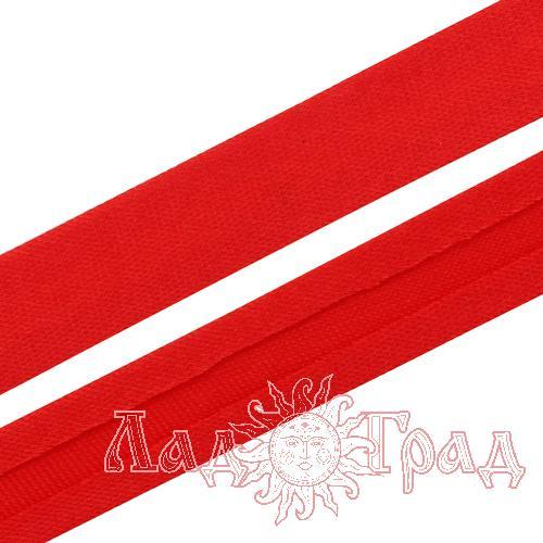 Косая бейка атласная 15мм красный