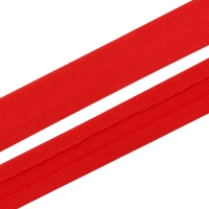 Косая бейка атласная красная, 15 мм