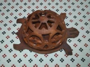 Светильник из глины Черепашка