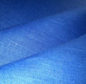 Лён костюмный васильковый умягчённый, ш150/пл180