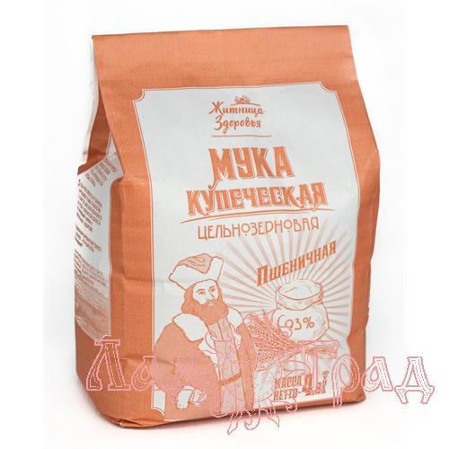 Мука пшеничная цельнозерновая Купеческая, 2 кг