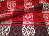 Ткань узорная Берегиня красная_2