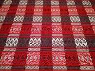 Ткань узорная Берегиня красная_1