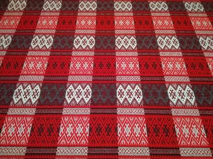 Ткань узорная Берегиня красная