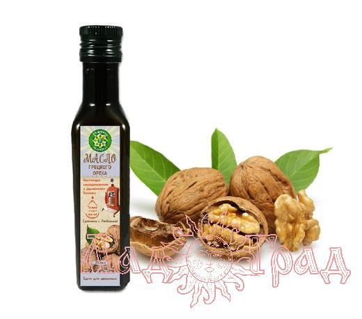 Масло Грецкого ореха, отжатое на деревянном прессе, 250 мл