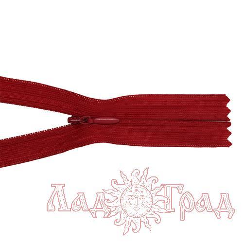 Молния потайная Т4 - 50/2,5 см (519 красный)