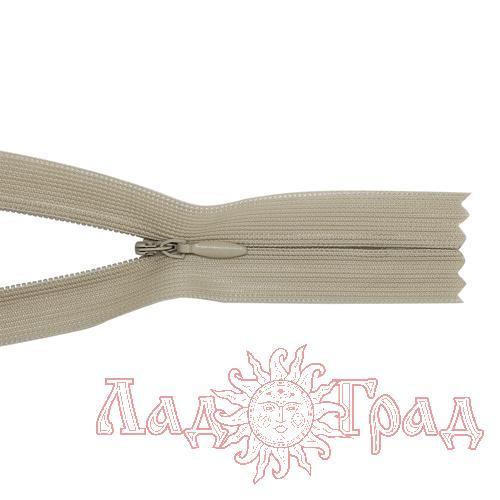 Молния потайная Т4 - 50/2,5 см (572 бело-серый)