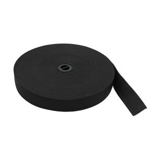 Резинка вязаная ТВ-25 чёрная, 25 мм