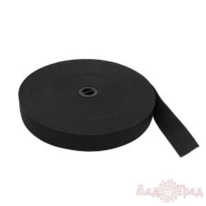 Резинка вязаная ТВ-25 чёрная, 2,5 см
