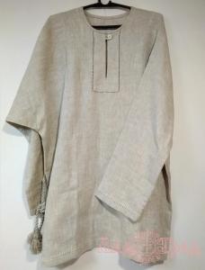 Рубаха мужская серая вышивка