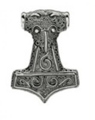 Молот Тора РУ-П3.046  30х38мм (оберег, латунь)