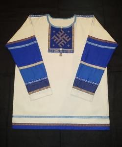 Рубаха мужская с ручной обережной вышивкой
