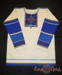 Мужская рубаха с ручной обережной вышивкой
