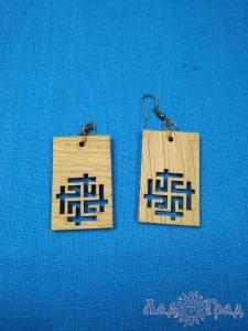 Серьги деревянные