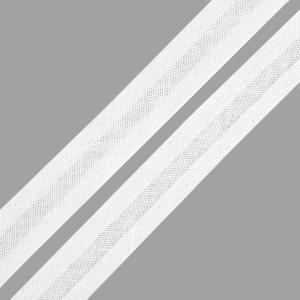 Косая бейка х/б белая, 15 мм