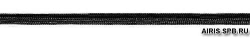 Шнур эластичный 0370-1100 чёрный, 1 мм