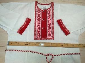 Рубаха мужская льняная белая