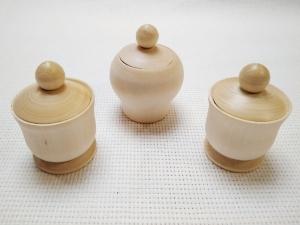 Горшочек деревянный малый для росписи 1шт.