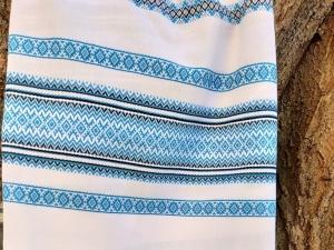 Ткань узорная СВЕТЛОЛИКА голубая
