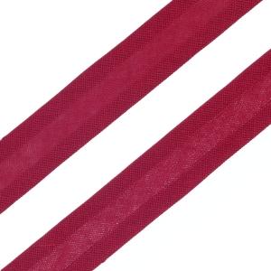 Косая бейка х/б бордовая, 15 мм