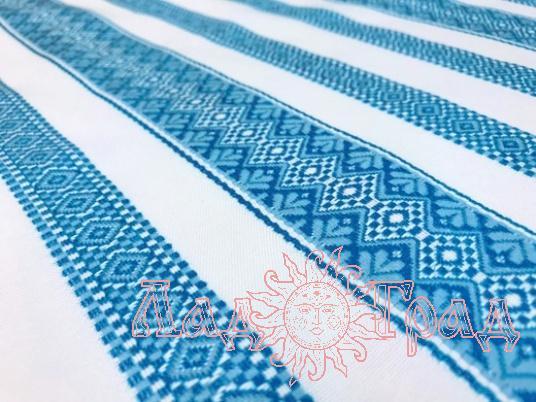 Ткань узорная ПОЛЕСЬЕ голубая