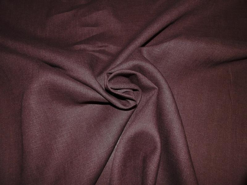 Лён сорочечный тёмный шоколад (0/235) ш150/пл150