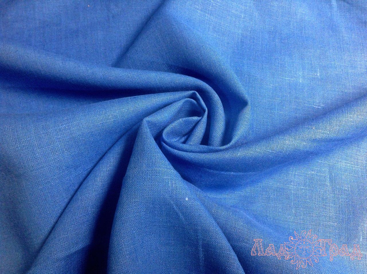 Лён сине-голубой (428) ш150/пл180