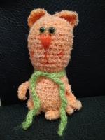 Кот вязаный рыжий махровый