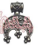Лунница РУ-П1.008   20х26мм (оберег, латунь)_1