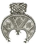 Лунница  РУ-П3.012     29х36 мм (оберег, латунь)_0