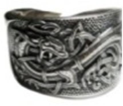 Кольцо Кельтский Дракон РУ-К1.007   малое (оберег, посеребрение)