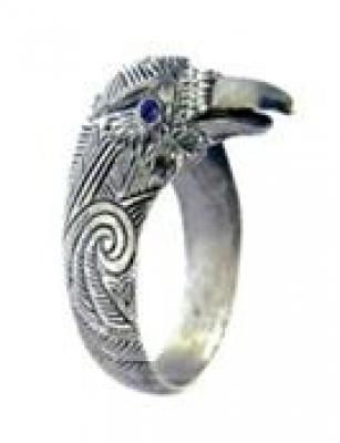Кольцо Ворон РУ-К2.004 (оберег, посеребрение)
