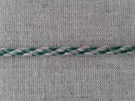 Шнур отделочный, лён с зелёным, 5 мм