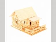 Деревянный конструктор «Русский дом» 182 элем., в дерев.коробке_0