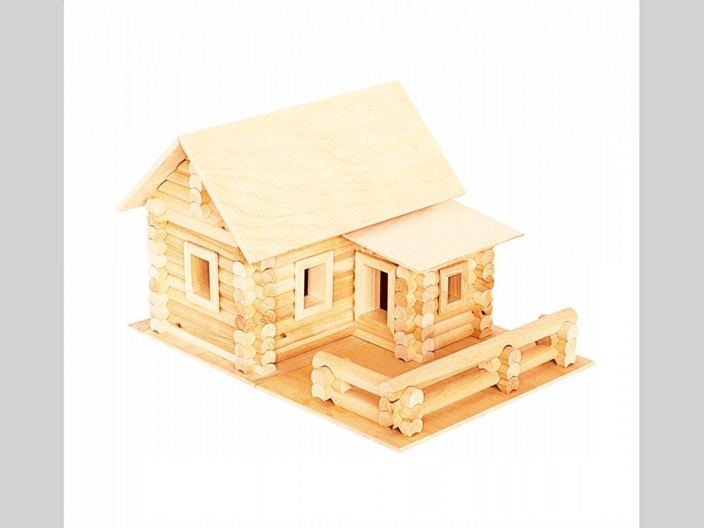 Деревянный конструктор «Русский дом» 182 элем., в дерев.коробке