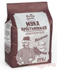Мука пшеничная цельнозерновая Крестьянская, 2 кг