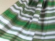 Ткань узорная ЖИВИКА зелёная