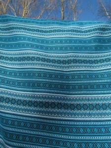 Ткань узорная ОРЕПЕЙ синяя