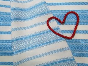 Ткань узорная ЖНИВЕНЬ голубой