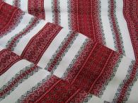 Ткань узорная ЖИВИКА красная