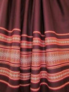 Ткань узорная МАРЬЯНА малиновая