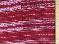 Ткань узорная Орепей красный с белым