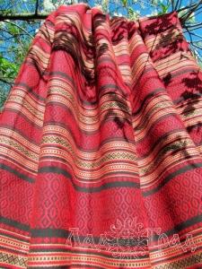 Ткань узорная МЕДОВАЯ вишня