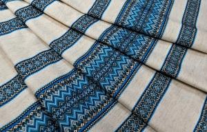 Ткань узорная ВОРОЖЕЯ синяя